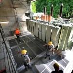 Umspannwerk Universität: 70-Tonnen-Trafo eingetroffen