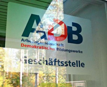 ADB Schild im Haus Neuland