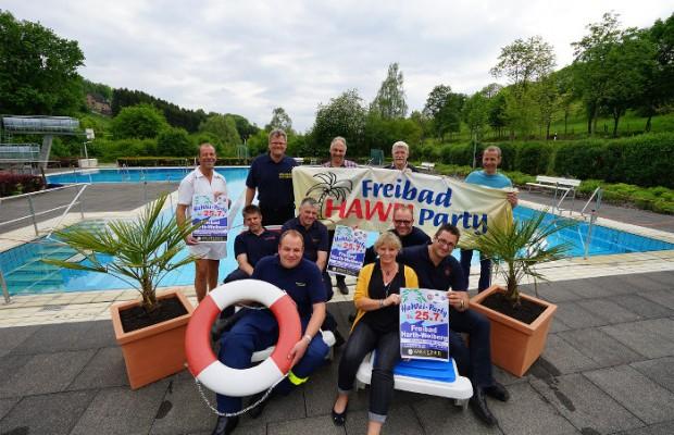 Freibad HaWei - Ankündigung Triathlon