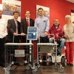 Rollstuhlgerechter Tablettwagen