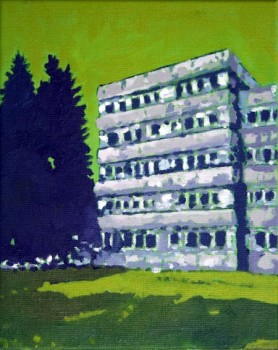Archiv, Ã l auf Leinwand, 30 x 24 cm, 2015