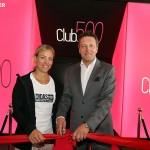 """Angelique Kerber und Turnierdirektor Ralf Weber eröffnen stylischen """"Club500"""""""