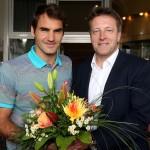 Roger Federer ist in HalleWestfalen eingetroffen!