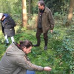 Exkursion für Studenten im Stadtwald