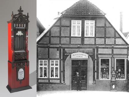 Münzautomaten-in-Lübbecke_Stollwerck-Rhenania_Zur-goldenen-Uhr