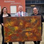 Abstrakte Kunst im Klinikum Gütersloh