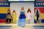 """Modenschau auf der CREATIVA. Die Mode-Textil-Designstudentin Julia Sommerfeld hat zum Abschluss ihres Studiums die """"Dream Collection"""" entworfen. Westfalenhallen GmbH / Foto: Anja Cord"""