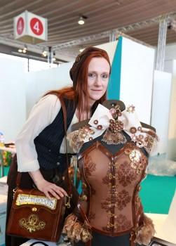 Essbare Mode bringt der Wettbewerb Queens' Battle hervor. . Westfalenhallen GmbH / Foto: Anja Cord