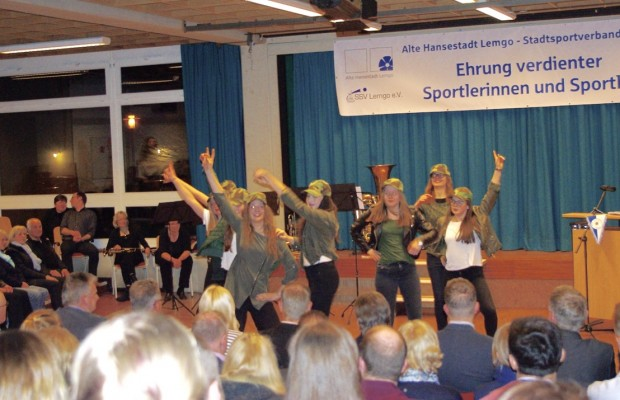 Die Hip-Hop-Girls aus Vossheide sorgten für Stimmung.