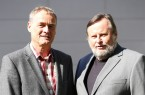 v. l. Dr. Helmut Schröder und Prof. Dr. Peter F.E. Sloane. Foto : Universität Paderborn, Reinhard Schwarz
