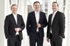 Sie managen gemeinsam die neue Miele Venture Capital GmbH (v. l. Dr. Christian Kluge (Leiter Controlling der Miele Gruppe), Peter Hübinger (Leiter Geschäftsbereich Smart Home und Werk Elektronik) und Gernot Trettenbrein  (Leiter Geschäftsbereich Hausgeräte International).Foto:Miele