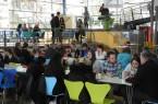 Gemeinsame Stärkung: Das Mittagessen nutzten viele Teilnehmer des Qualidays, um miteinander ins Gespräch zu kommen und Erfahrungen auszutauschen.