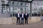 """von links: Mark Piper, Alexander Olenberg und Alexander Zibart freuen sich über eine Förderung im Rahmen des Wettbewerbs """"START-UP-Hochschul-Ausgründungen""""."""