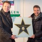 Moderator Florian Silbereisen mit einem >Walk of Fame-Stern< in HalleWestfalen