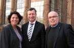 Zu Gast in seiner Heimat Richterbund-Vorsitzender Jens Gnisa (Mitte) mit der CDU Lippe-Vorsitzenden und Bundestagskandidatin Kerstin Vieregge (li.) und dem CDU Landtagskandidaten Walter Kern.