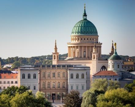 Blick auf Potsdams historischen Stadtkern mit Museum Barberini, Photo: Helge Mundt, © Museum Barberini