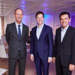 Nick Clegg im Gespräch mit Ulrich Oppold