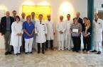 Die Beteiligten des Onkologischen Zentrums und des Darmkrebs Zentrums Gütersloh freuen sich über die positiven Beurteilungen der externen Prüfer.