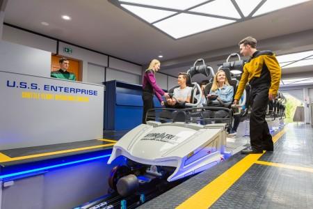 """Station der neuen Achterbahn """"Star Trek Operation Enterprise"""" Foto: © Movie Park Germany"""