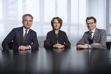 Der Vorstand der Ahlers AG (v.l.n.r.): Götz Borchert, Dr. Stella A. Ahlers, Dr. Karsten Kölsch Fotos: Ahlers AG
