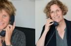 Am Zeugnistelefon: (von links nach rechts )Sabine Kramm und Kirsten Zünkler (Foto: Amt für Presse- und Öffentlichkeitsarbeit, Kreis Paderborn, Anna-Sophie Schindler)