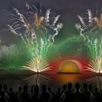 Park-Konzert trifft auf Feuerwerk-Show