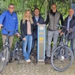 Stadtwerke installiert E-Bike-Ladesäule in der Spielerei
