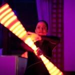 "eSteffania präsentiert flammendes  Schauspiel zu den 10. Holztagen  ""Feuertänzer meets Rhythm"""
