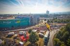 """Bielefelds Stadtautobahn, der Ostwestfalendamm, bietet jedes Jahr eine schöne Kulisse für den """"Stadtwerke run & roll day"""".  Foto: Bielefeld Marketing GmbH"""