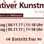 Kreativer Kunstmarkt 04. bis 05.11.2017 im Hotel Aspethera