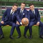 SK Rapid – Spieler im Business-Look