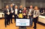 Wollen die kulturelle Bildung in Lippe fördern: Landrat Dr. Axel Lehmann, Markus Rempe, Ute Bicker, Anke Peithmann, Helmut Zumbrock (Bezirksregierung Detmold), Arne Brand und Saskia Frei-Klages.
