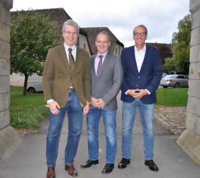 Dr. Michael Weber, Dr. Detlef Michael Ringbeck und Dr. Marcus Rübsam (v.l.) referierten in der Abtei zu Marienmünster.