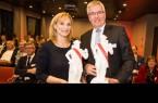 Im Légère Hotel nehmen BGW-Geschäftsführerin Sabine Kubitza und Piening-Geschäftsführer Holger Piening die Auszeichnung entgegen. Foto: Patrick Piecha