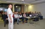 Chefarzt Prof. Joachim Mellert (l.) referierte über Funktionsstörungen der Schilddrüse und über operative Behandlungsmöglichkeiten.