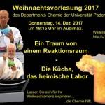 Chemie-Weihnachtsvorlesung an der Universität Paderborn am 14. Dezember