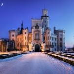 Winterbesuch hinter alten Mauern