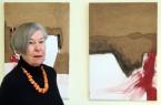 Ursula Horstmann ist die aktuelle Künstlerin, die in der Kantine im Kreishaus Detmold ausstellt. Foto: © Kreis Lippe