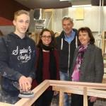Azubi René Marquardt überzeugt bei Tischlerei Wißbrok