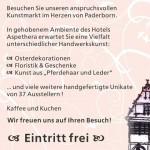 10. Kreativer Kunstmarkt vom 03.03. bis 04.03.2018 im Hotel Aspethera