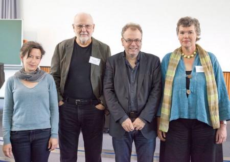 Die Leiterinnen und Leiter der Tagung: Tatjana Thelen, David Warren Sabean, Simon Teuscher, Erdmute (v.l.)
