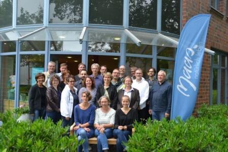 Mit guter Beratung zum Ziel: Die Teilnehmer der letzten ÖkoProfit-Kampagne bei einem Workshop bei Maas Naturwaren