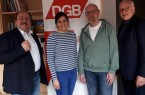 Gianpaolo Mosca (IG BAU), Anke Unger (DGB), Hermann Janßen (ver.di), Hans-Jürgen Wentzlaff (IG Metall)