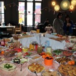 Frauenfrühstück in der Weberei