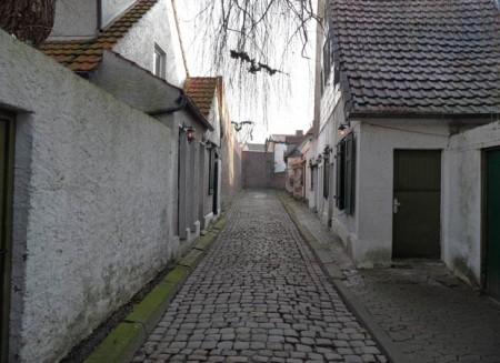 Ein Foto von der Gasse Rampenloch. Foto: © Stadt Minden /Stadtplanung
