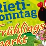 Rieti-Sonntag mit Frühlingsmarkt am 18.März in Rietberg