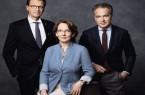 Der Vorstand: Frau Dr. Stella Ahlers, Götz Borchert und Dr. Karsten Kölsch. Foto: © Ahlers AG