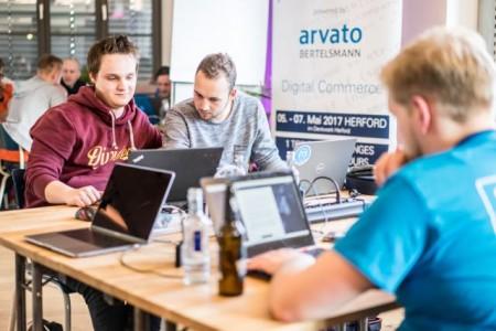 Anmeldungen zum Hackathon: www.bertelsmann-hackathon.de .Foto:Bertelsmann