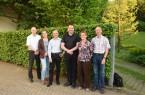 v.l. Prof. Dr. Klaus Maas (Hochschule Ostwestfalen-Lippe, Direktoriumsmitglied des ZZHH); Prof.'in Dr. Yvonne-Christin Bartel (Hochschule Ostwestfalen-Lippe, Vizepräsidentin für Bildung und Internationalisierung); Prof. Dr. Ulrich Harteisen (HAWK, Direktoriumsmitglied des ZZHH); Prof. Dr. Stephan Humer (Hochschule Fresenius, Berlin), Heidrun Wuttke (Projektreferentin Smart Country Side), Prof. Dr. Stefan Wolf (Hochschule Ostwestfalen-Lippe, Sprecher des Standortes Höxter)
