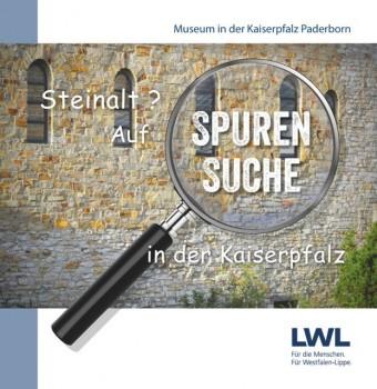 Mit dem neuen Museumsheft können sich große und kleine Besucher auf die Suche nach den mittelalterlichen Bauteilen in der Kaiserpfalz machen. Grafik: onebreaker.de/W. Noltenhans